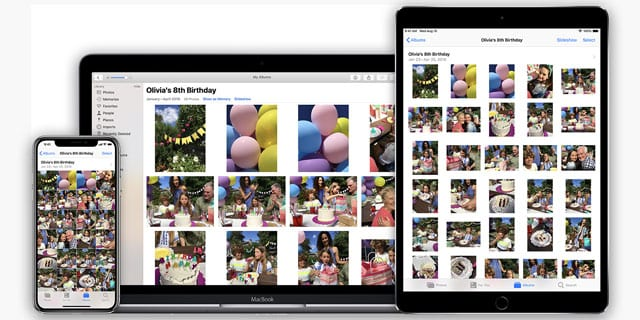 photos app on Mac, iPhone, iPad, iPod