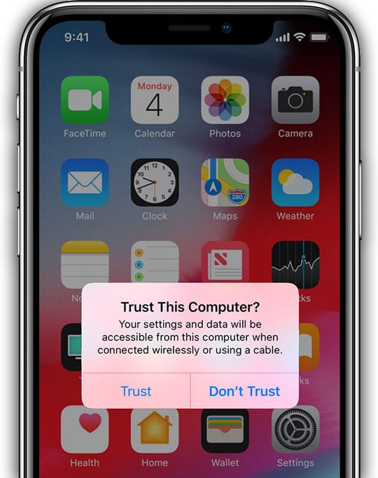 trust this computer message on iPhone