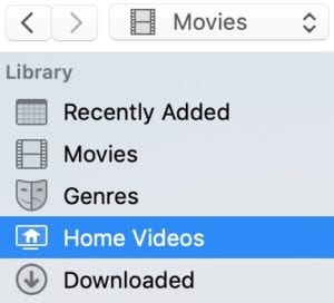 Home Videos in iTunes