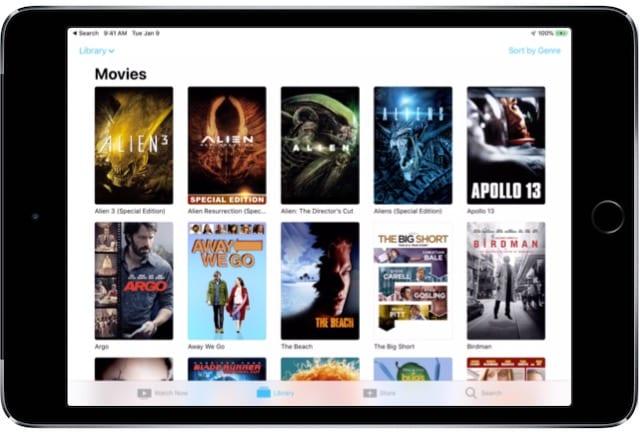 iPad TV app Movies