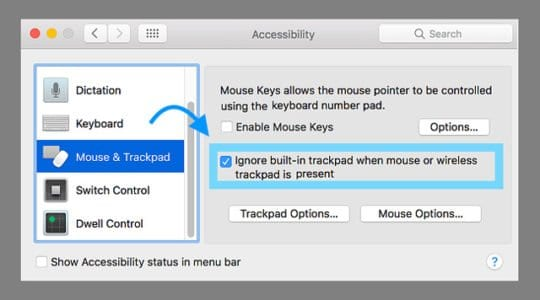 Disable Trackpad on Mac With Mouse or Wireless trackpad is connected