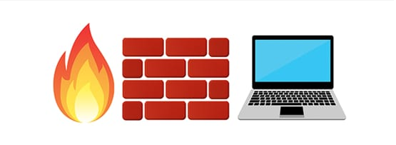 Firewall and laptop