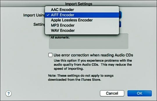 cant import cd to itunes mac