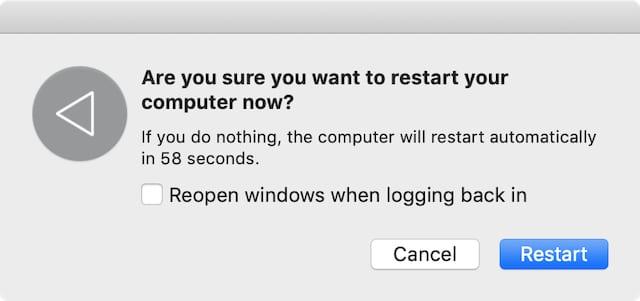 Restart your Mac window