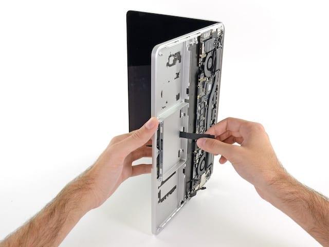 MacBook getting a trackpad repair.