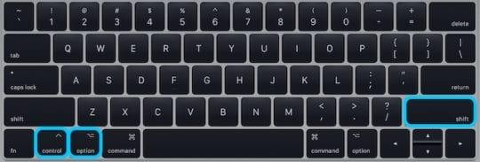 Keyboard highlighting SMC keys.