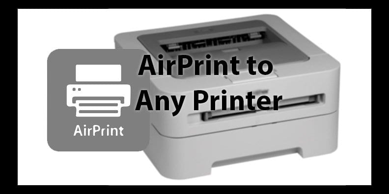 Activate AirPrint by adding or removing the required files.