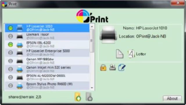 O'Print window on PC