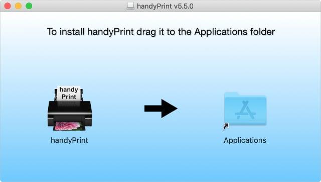 handyPrint app and applications folder