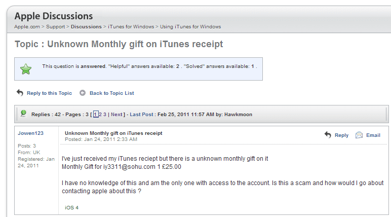 Itunes take my How off credit to card