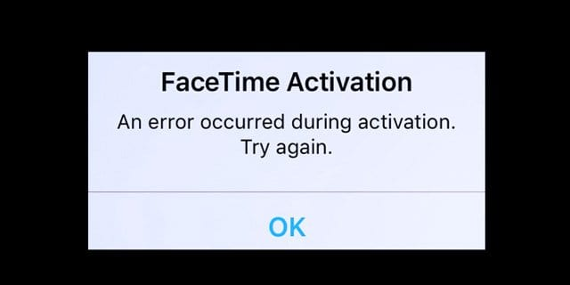 """FaceTime Activation Error: """"Could not sign in. Please check your network connection and try again"""", Fix"""