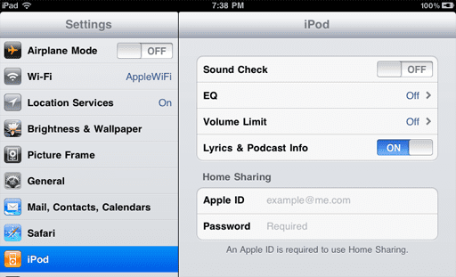 what is home sharing iphone setting up home on your iphone or ipod 5007
