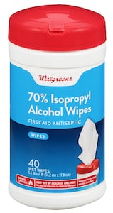 Pack of isopropyl wipes.