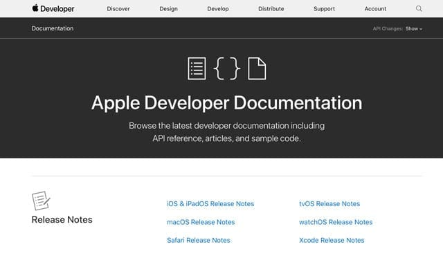 Apple operating system release notes on apple developer