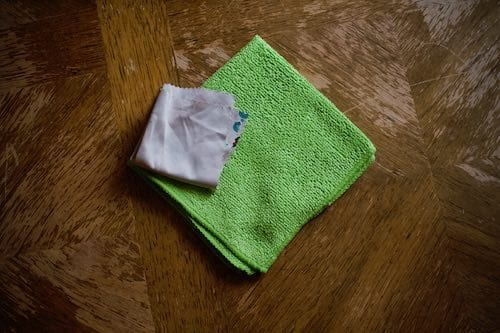 Lint-free and microfiber cloths.