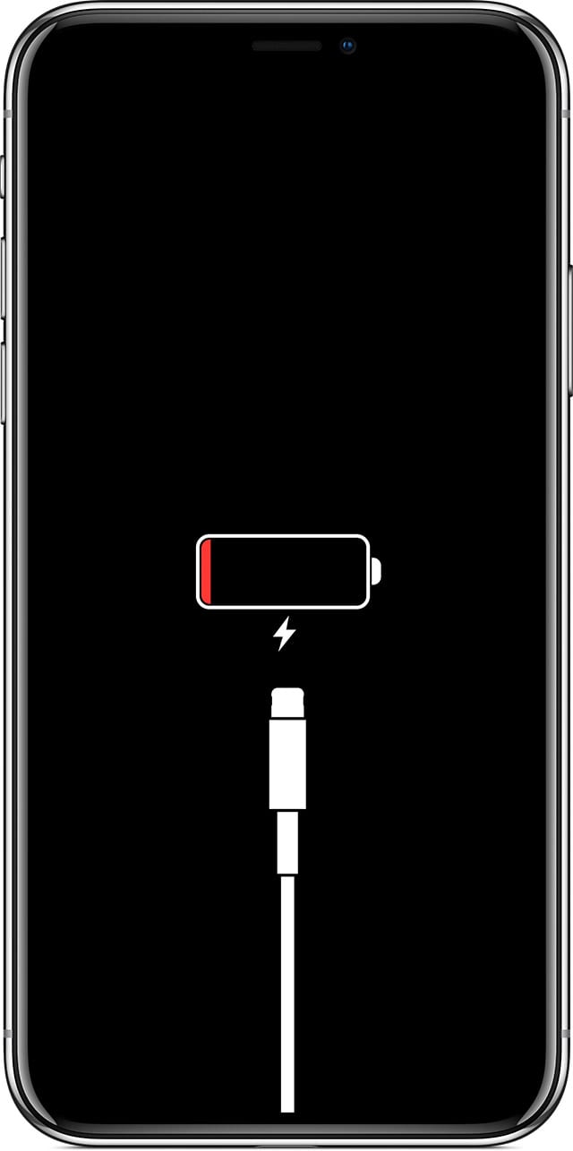 iPhone showing the Low Power Screen