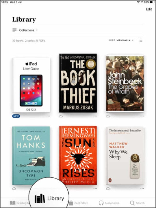 iBooks Library with iPad User Guide