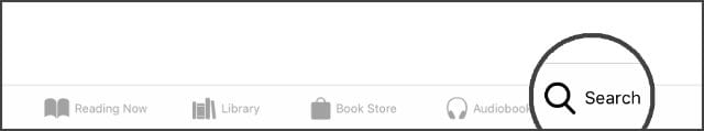 iBooks Search button