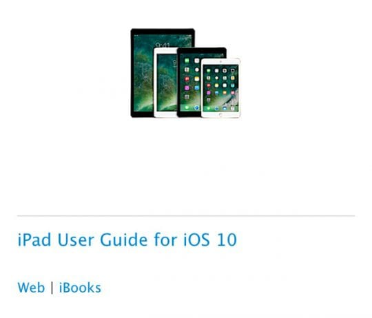 Where is the iPad manual?
