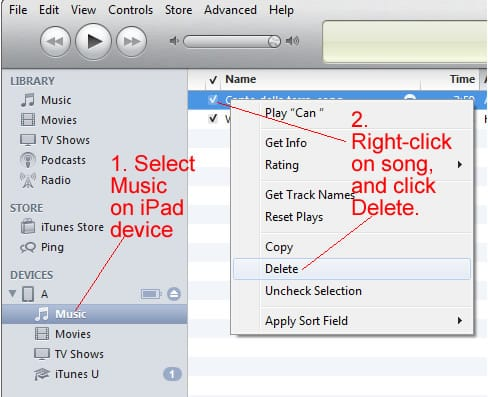 How to Delete Songs from iPad - AppleToolBox