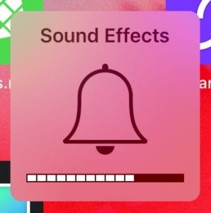 Sound Effects icon on iOS.