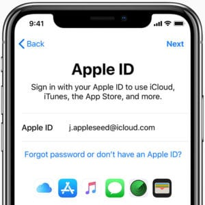 Sign in with Apple ID on iPhone X