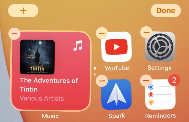 Minus button for deleting apps on iPhone Home Screen