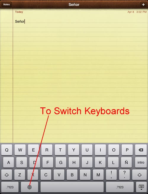 how to add spanish keyboard to iphone 6