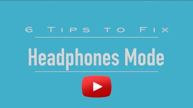 How to fix iPhone stuck in headphones mode