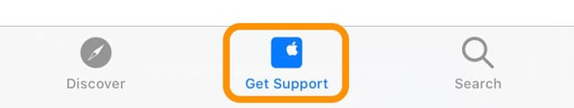 get support from Apple Support app