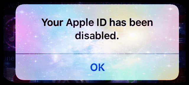 "Daily Q & A: ""Your Apple ID has been disabled"": My Apple ID"