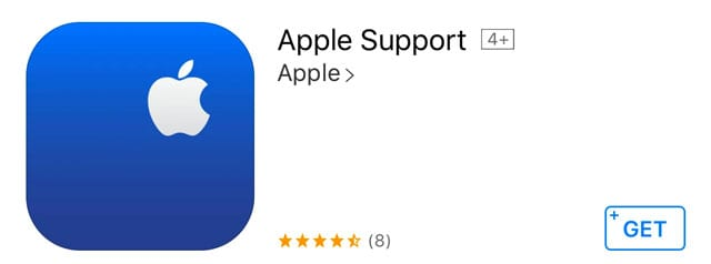 Apple's support app for iOS and iPadOS