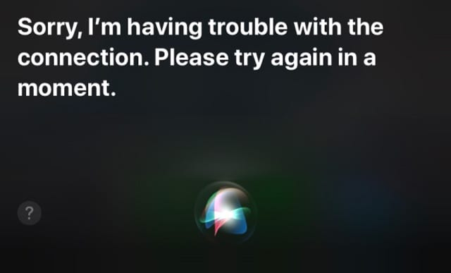 Siri problems with internet connection