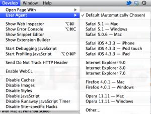 Safari tool bar