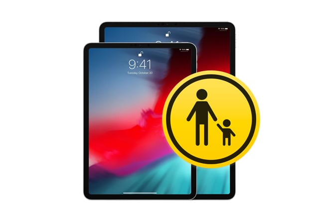 parental control icon and iPads no home button