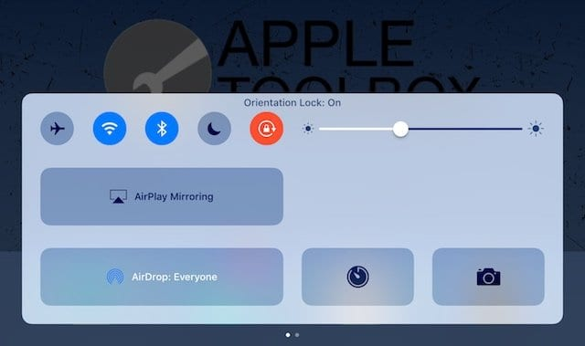 My iPad rotation is locked vertically and I cannot unlock rotation, how do I resolve this?