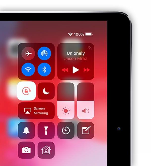 Control Center Screen Orientation Lock iPad
