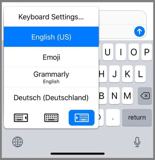 How to delete an international keyboard on iPad / iPhone / iPod Touch