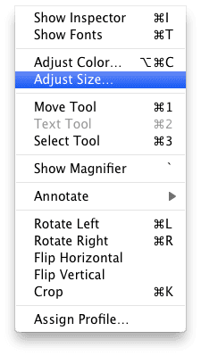 Adjust Size