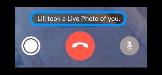 Live Photo Notification in FaceTime