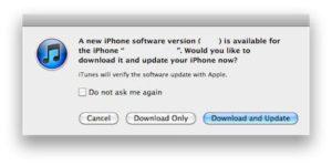 iOS iTunes Upgrade