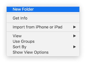 Create a new folder to fix corrupt backups in iTunes.