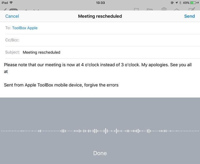 How to use Dictation: iOS and iPads