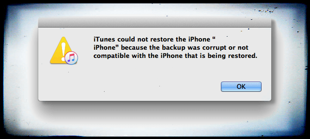 how to delete corrupt itunes backup