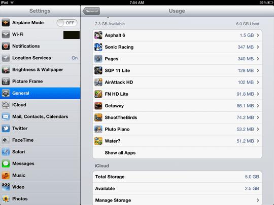 iOS size