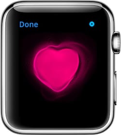 Apple Watch heartbeat images can be sent over iMessage.