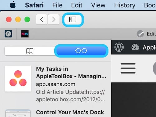 Screenshot of Safari in macOS navigating to the Reading List