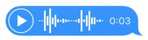 Voice recording image from iMessage.