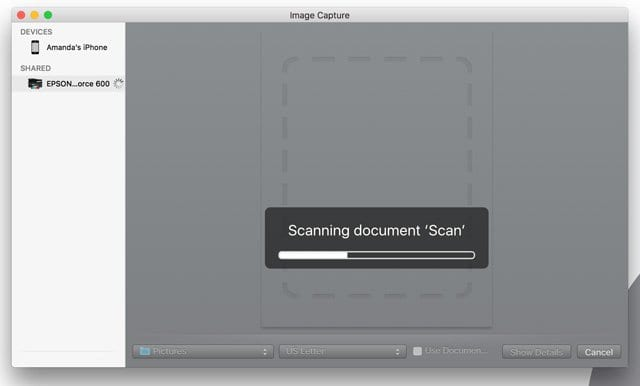 How to scan photos / images on a Mac using iPhoto or Photos