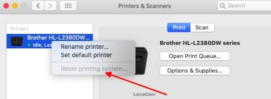 AirPrint not working: Fix for